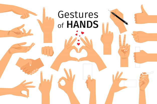 Gesti delle mani isolati