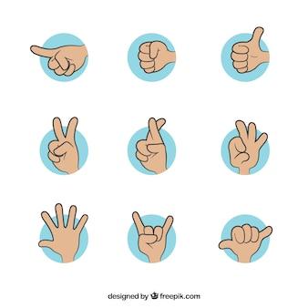 Gesti di mano illustrazione