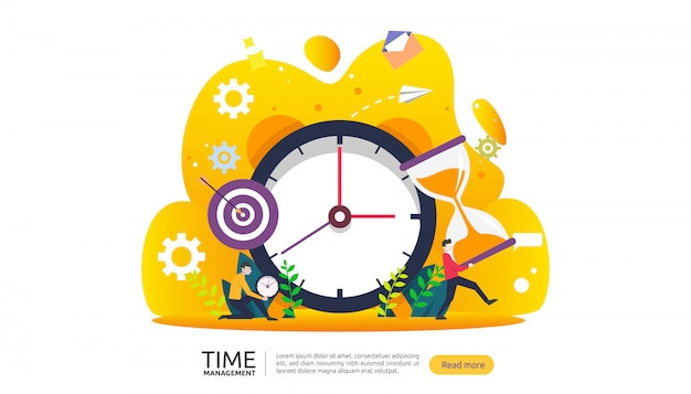 Gestione del tempo e concetto di procrastinazione. pianificazione e strategia per banner aziendali
