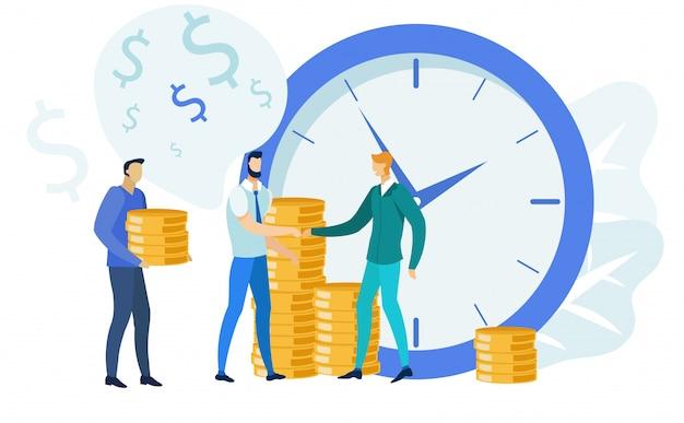 Gestione delle finanze, illustrazione di attività bancarie