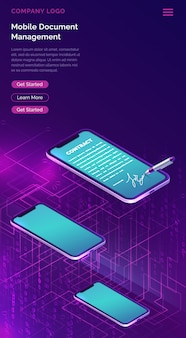 Gestione documenti mobile o firma elettronica