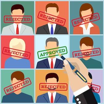 Gestione risorse umane selezionare dipendente