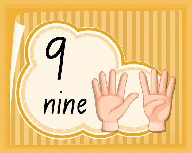 Gesto della mano numero nove