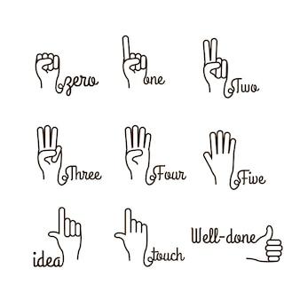 Gesto delle mani