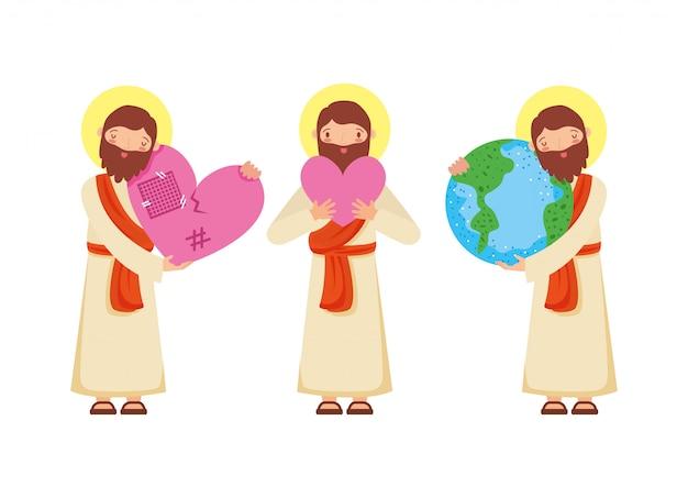 Gesù cristo insieme.