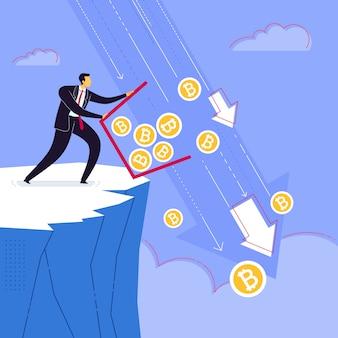 Getta via il risparmio di valuta bitcoin