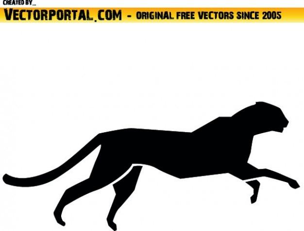 Ghepardo silhouette