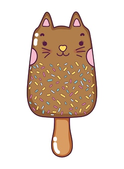 Ghiacciolo per gatti gustoso kawaii