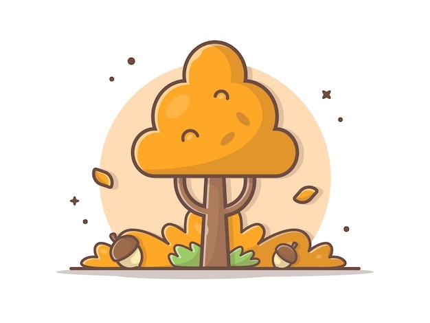 Ghianda in autunno