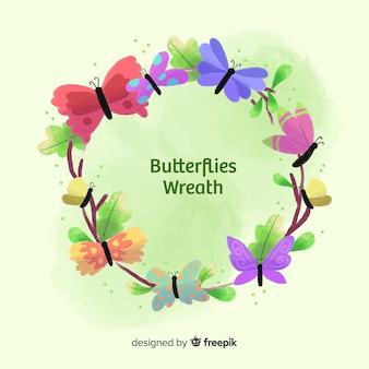 Ghirlanda di farfalle colorate
