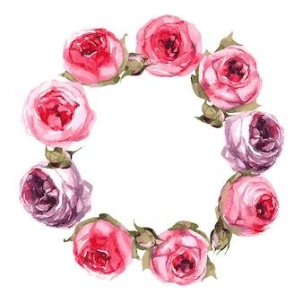 Ghirlanda di rose di peonia