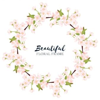 Ghirlanda floreale di fiori di ciliegio