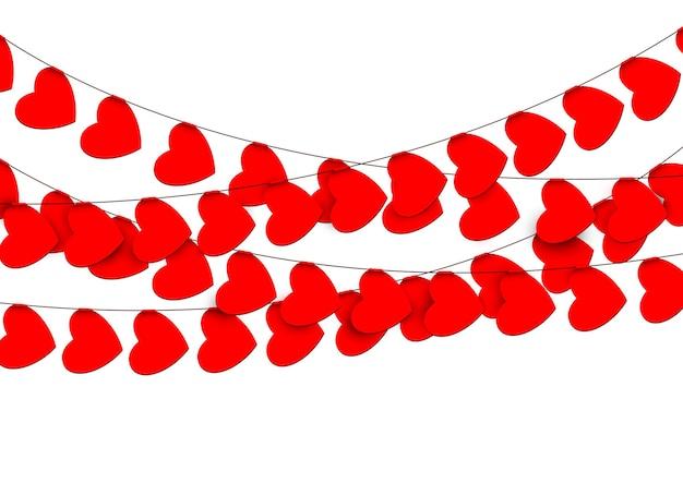 Ghirlande di cuori rossi
