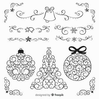 Ghirlande di ornamenti di natale