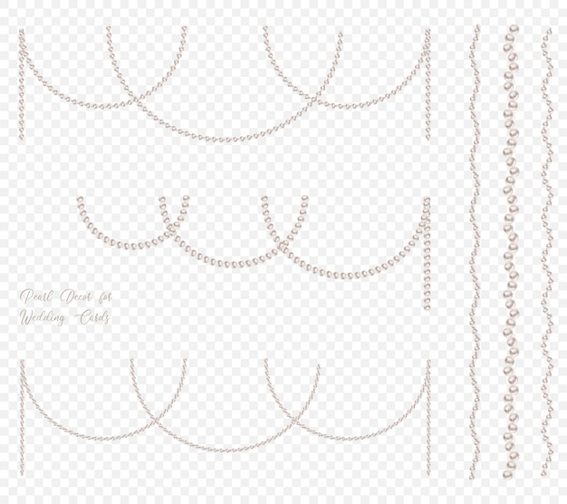 Ghirlande di perle per decorazioni di gala