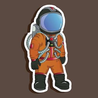 Giacca gialla da astronauta
