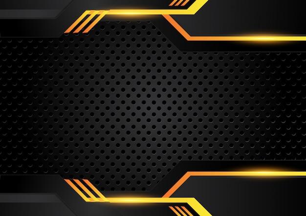 Giallo arancio e nero sfondo astratto di affari. disegno vettoriale