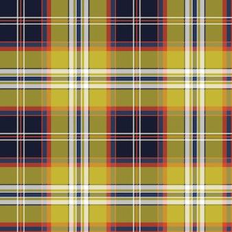 Giallo blu check tartan pixel seamless pattern