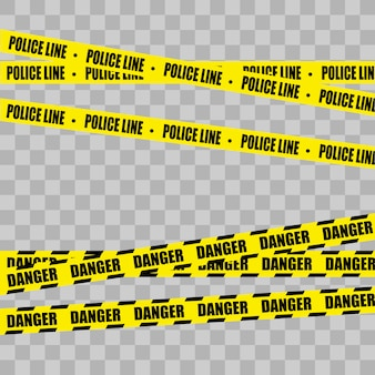 Giallo con linea di polizia nera. non entrare, pericolo.