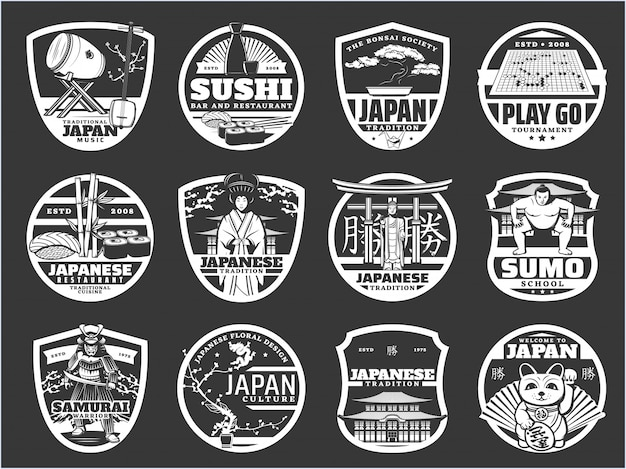 Giappone religione, storia e cultura, icone di sushi