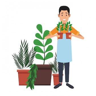 Giardino e giardinieri
