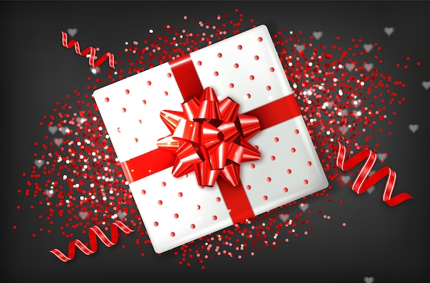 Giftbox con fiocco rosso