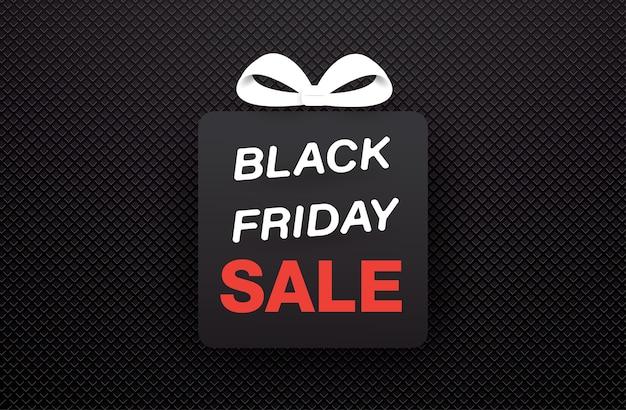 Giftbox nero vendita venerdì nero su struttura nera