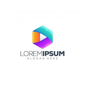 Gioca illustrazione logo design vettoriale