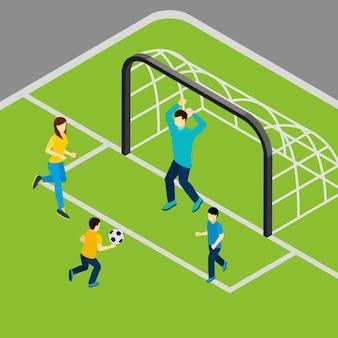 Giocare a calcio illustrazione