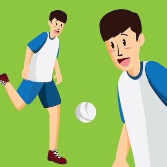 Giocare a calcio sfondo