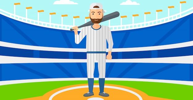 Giocatore di baseball con mazza