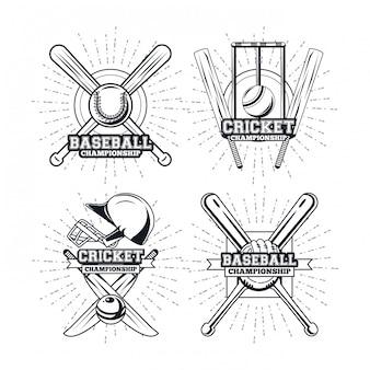 Giocatore di baseball e cricket