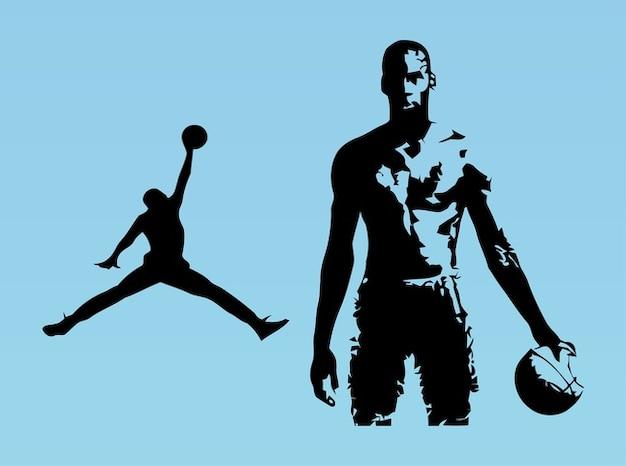 Giocatore di basket michael jordan vettore