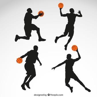Giocatore di basket sagome