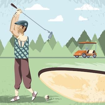 Giocatore di golf nel corso