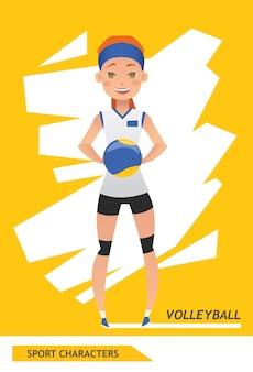 Giocatore di pallavolo di personaggi sportivi