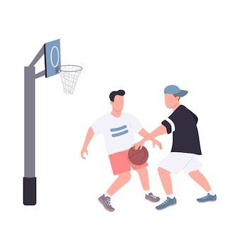 Giocatori di basket di strada