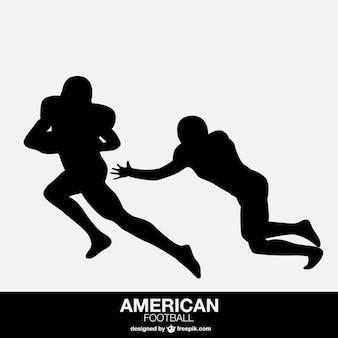 Giocatori di football americano isolato di design