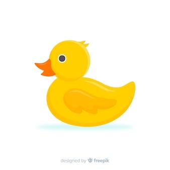 Giocattolo da bagno di gomma giallo anatra