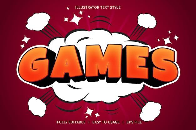 Giochi, effetto carattere stile testo rosso gradazione arancione
