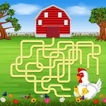 Gioco da tavolo con uno sfondo di fattoria