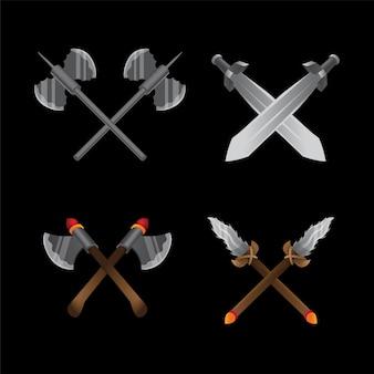 Gioco dell'oggetto, icone dell'applicazione, set di gioco