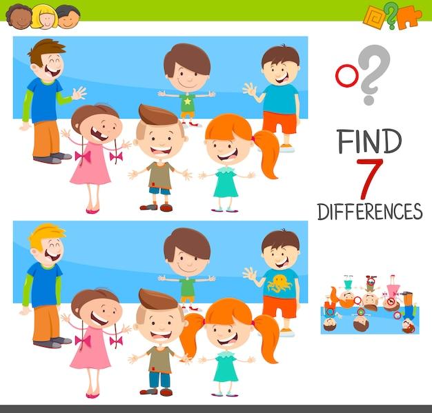 Gioco di differenze con personaggi bambini