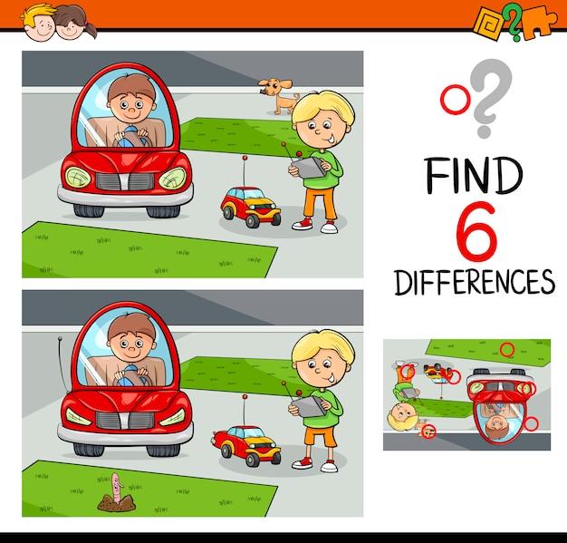 Gioco di differenze per bambini
