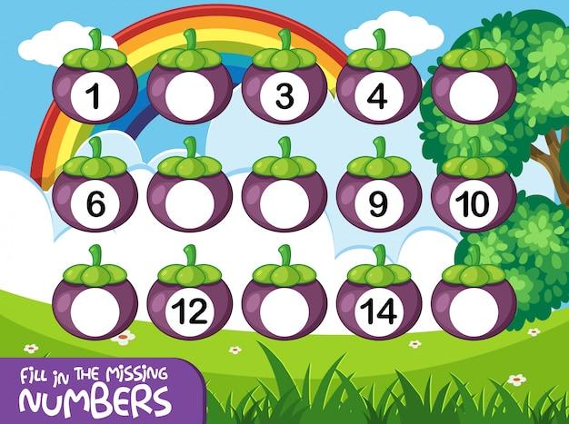 Gioco di numeri di matematica
