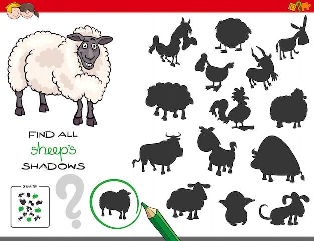 Gioco di ombre con personaggi delle pecore