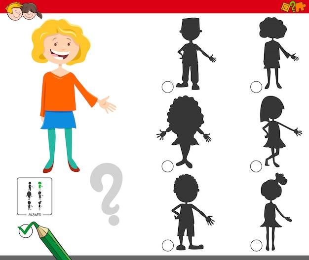 Gioco di ombre con personaggi di cartoni animati