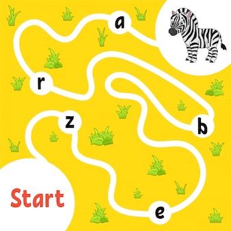Gioco di puzzle logico zebra.