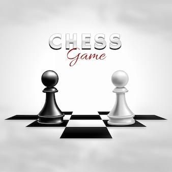 Gioco di scacchi realistico