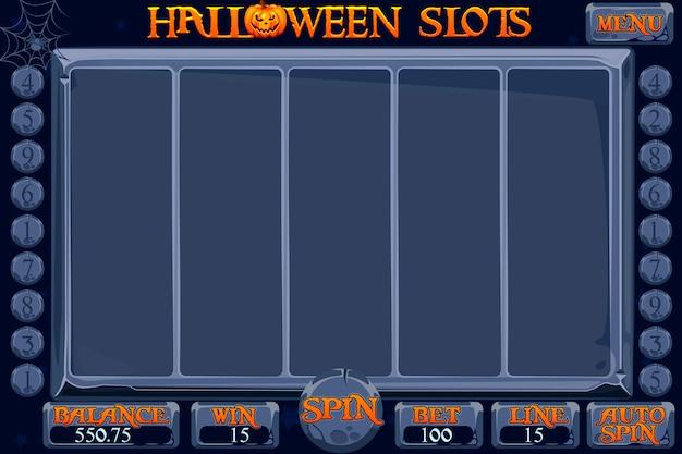 Gioco di slot machine del casinò in stile halloween